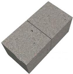 Готовый полнотелый блок 195x190х190 мм