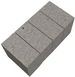 Готовый полнотелый блок 97х190х190 мм