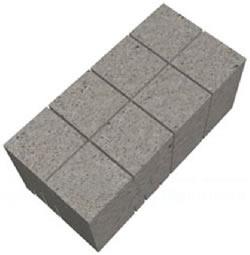 Готовый полнотелый блок 97х95х190 мм