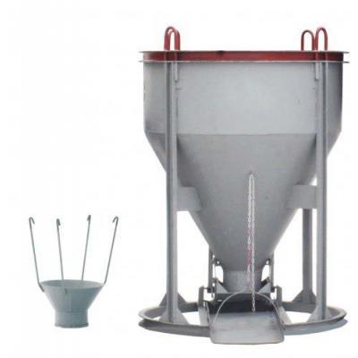 Бадья для бетона БНу-1.0 (воронка, лоток)