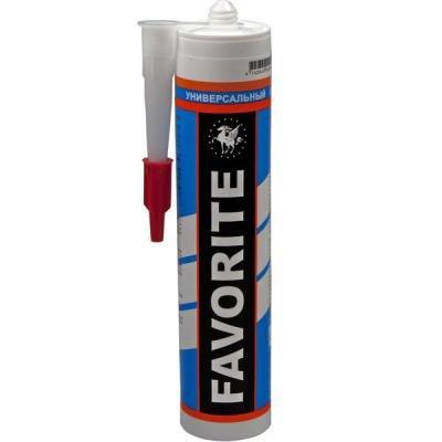 Герметик силиконовый универсальный прозрачный FAVORITE 280 мл