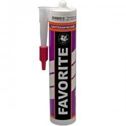 Герметик силиконовый санитарный белый FAVORITE 280 мл