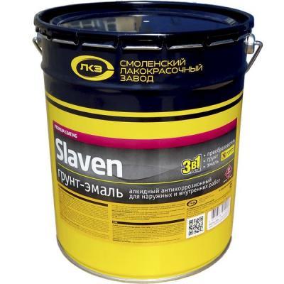 Грунт-эмаль 3 в 1 Slaven быстросохнущий антикоррозионный ЖЕЛТЫЙ 20 кг
