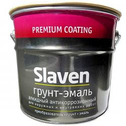 Грунт-эмаль 3 в 1 Slaven быстросохнущий антикоррозионный КРАСНЫЙ 3,2 кг