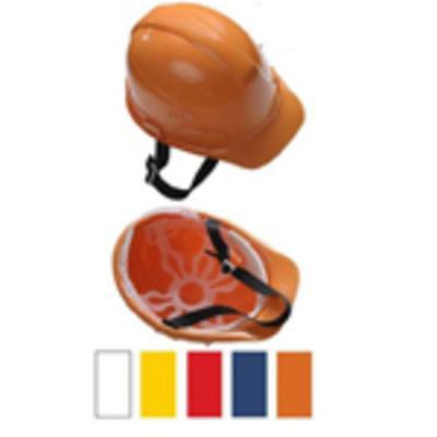 Каска защитная с амортизатором, оранжевая, с храповым механизмом