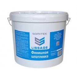 Шпатлевка готовая полимерная на водной основе Финишная (толщина слоя 3мм) LISSAGE SOMITEK (25кг)