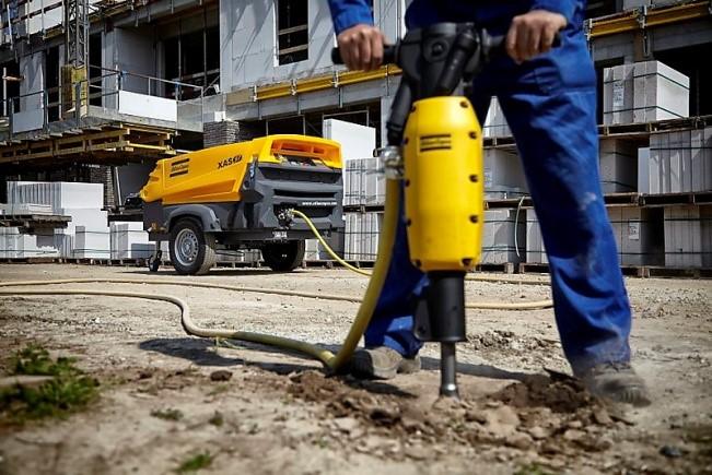 Применение винтового дизельного компрессора для питания отбойных молотков