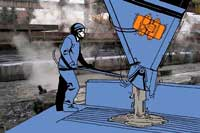 площадочный вибратор для работы с бетоном