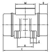 Габаритные размеры площадочного вибратора ЭВ-320